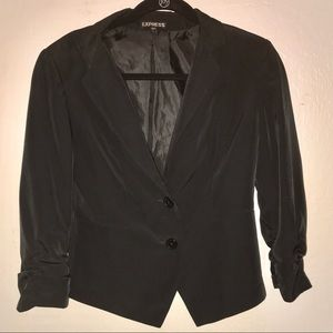Express Ruched Sleeve 2-Button Front Blazer